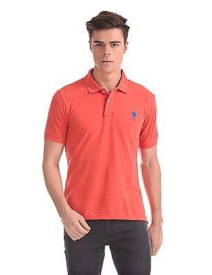 U.S. Polo Assn. Short Sleeve Textured Polo Shirt