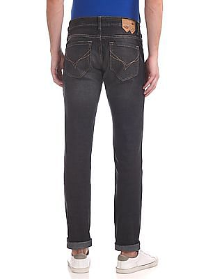 Flying Machine Michael Slim Tapered Fit Stone Wash Jeans