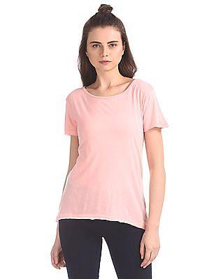 SUGR Solid Cotton Blend T-Shirt