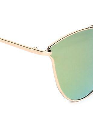 SUGR Round Frame Mirrored Sunglasses