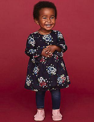 GAP Baby Floral Print Empire-Waist Dress