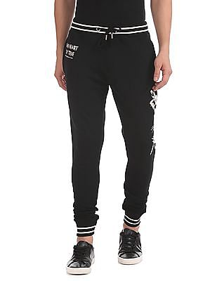 Ed Hardy Slim Fit Printed Joggers