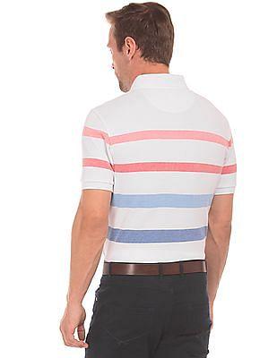 U.S. Polo Assn. Striped Pique Polo Shirt