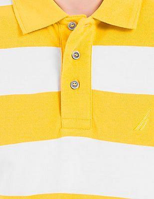 Nautica Striped Pique Polo Shirt