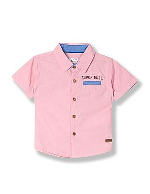 Donuts Boys Short Sleeve Striped Weave Shirt