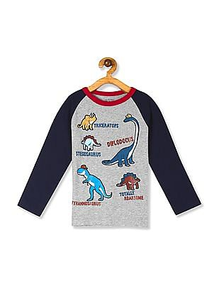 The Children's Place Toddler Boy Grey Long Raglan Sleeve Graphic Tee