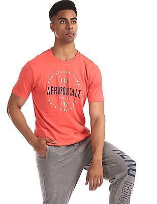 Aeropostale Red Crew Neck Brand Print T-Shirt