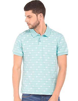 Izod Arrow Print Slim Fit Polo Shirt