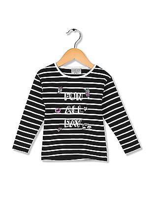 Cherokee Girls Long Sleeve Striped T-Shirt