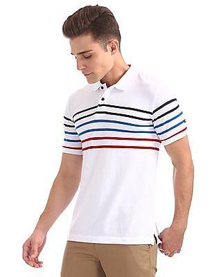 Arrow Sports Striped Regular Fit Polo Shirt