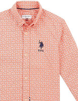 U.S. Polo Assn. Kids Boys Printed Button Down Shirt