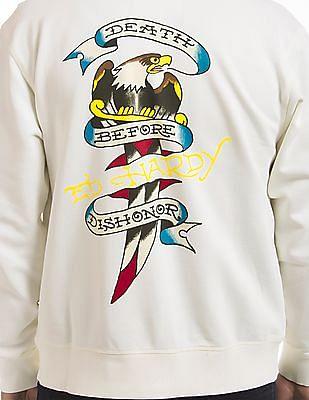 Ed Hardy Zip Up Hooded Sweatshirt