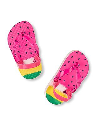 The Children's Place Toddler Girl Watermelon Flip Flop