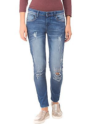 EdHardy Women Distressed Skinny Fit Jeans