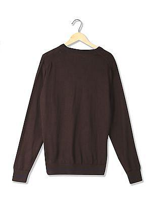 Arrow Sports Regular Fit Patterned Sweater