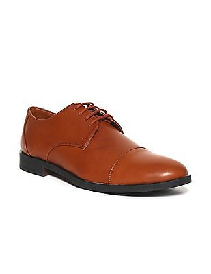 Ruggers Brown Cap Toe Derby Shoes