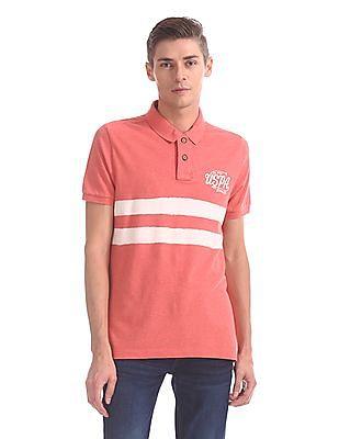 U.S. Polo Assn. Denim Co. Regular Fit Stripe Chest Polo Shirt