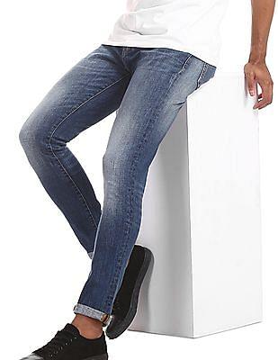 Aeropostale Blue Super Skinny Fit Stone Wash Jeans