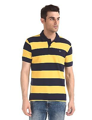 Ruggers Horizontal Stripe Pique Polo Shirt
