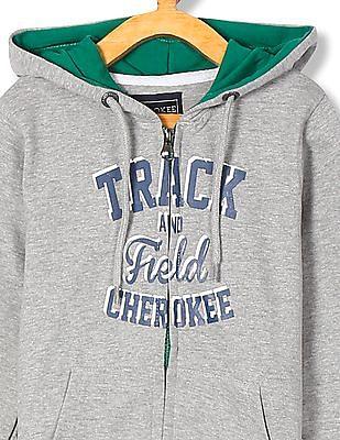 Cherokee Boys Hooded Printed Sweatshirt