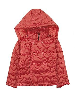 Cherokee Girls Hooded Quilted Jacket
