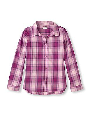 The Children's Place Girls Long Sleeve Plaid Shirt