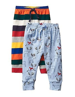 GAP Baby Assorted Bright Stripes Knit Pants - Pack of 2