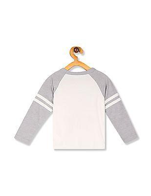 The Children's Place Toddler Boy White Crew Neck Raglan Sleeve T-Shirt