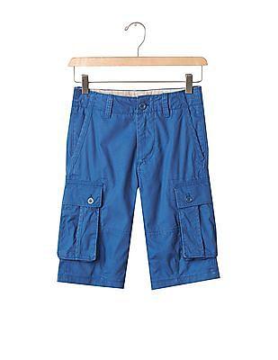 GAP Boys Blue Solid Ranger Shorts