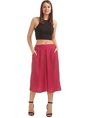 Bronz Solid Woven Culottes