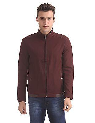 Arrow Sports Regular Fit Solid Bomber Jacket