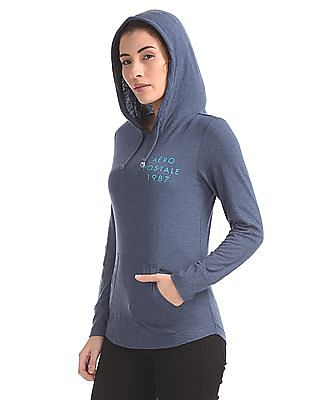 Aeropostale Printed Hooded Sweatshirt