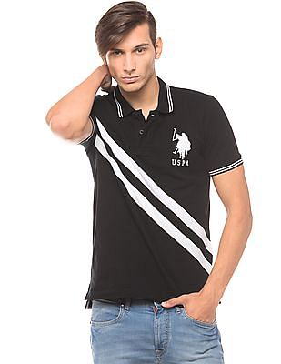 U.S. Polo Assn. Panelled Slim Fit Polo Shirt