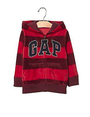 GAP Baby Pro Fleece Logo Stripe Hoodie
