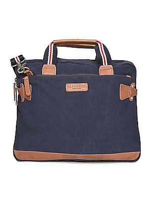 U.S. Polo Assn. Contrast Trim Canvas Messenger Bag