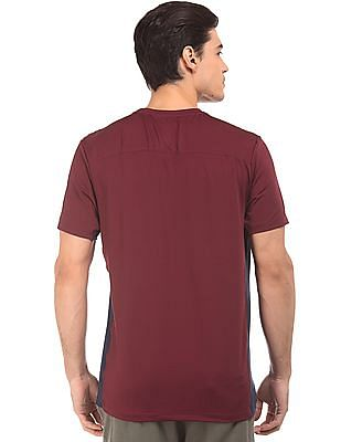 USPA Active Contrast Panel Active T-Shirt