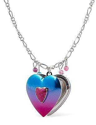 The Children's Place Girls Glitter Heart Necklace