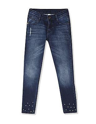 Cherokee Girls Slim Fit Embellished Jeans