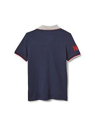 GAP Boys Blue Logo Polo Shirt
