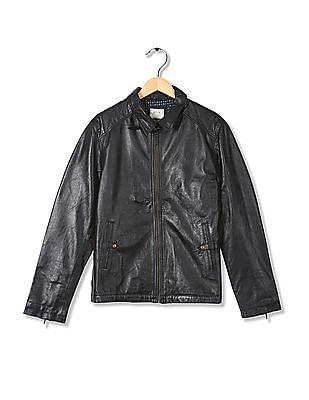 Arrow Sports Leather Biker Jacket