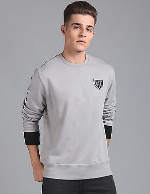GAP Popover Sweatshirt With Badge and Branded Taping