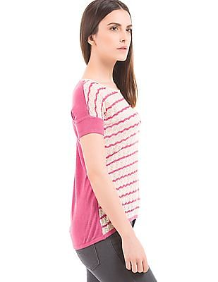Arrow Woman Striped Regular Fit