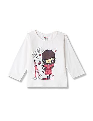 Donuts Girls Printed Long Sleeve T-Shirt