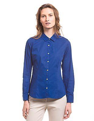 Nautica Panelled Long Sleeve Shirt