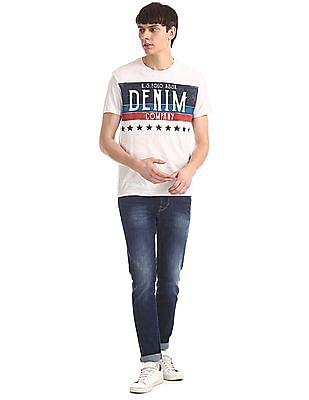 U.S. Polo Assn. Denim Co. Grey Crew Neck Distressed Print T-Shirt