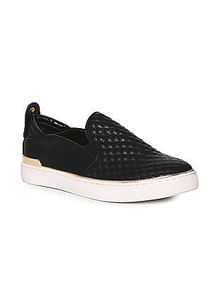 Stride Metallic Accent Quilted Slip On Shoes