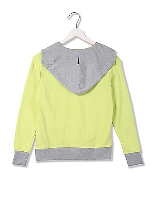 Flying Machine Women Standard Fit Colour Blocked Sweatshirt