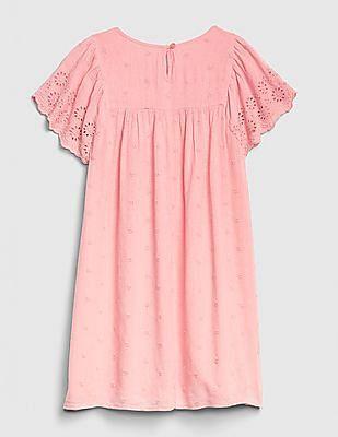 GAP Girls Embroidery Flutter Dress