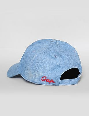 GAP Women Blue Denim Baseball Cap
