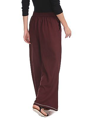 Bronz Slim Fit Solid Palazzos